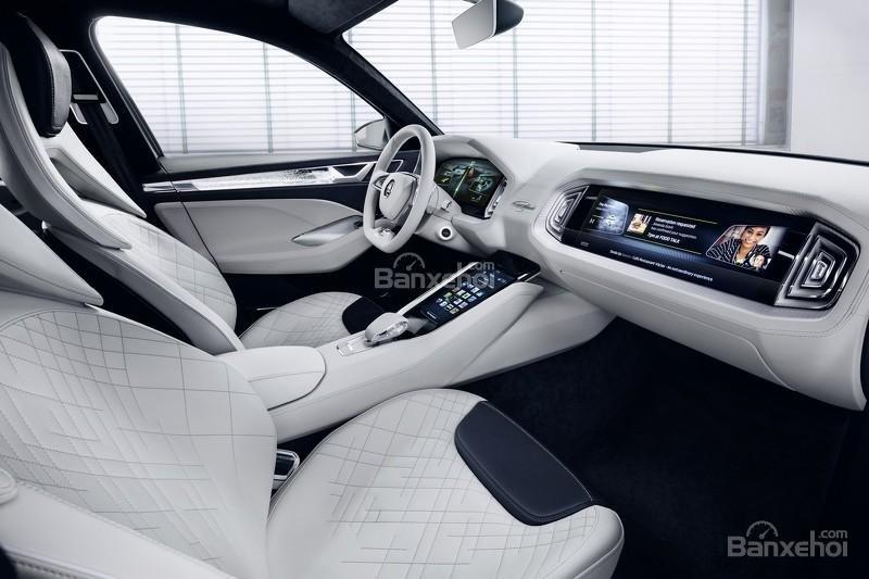 """Skoda VisionS concept: Tân binh SUV """"siêu"""" tiết kiệm 9"""