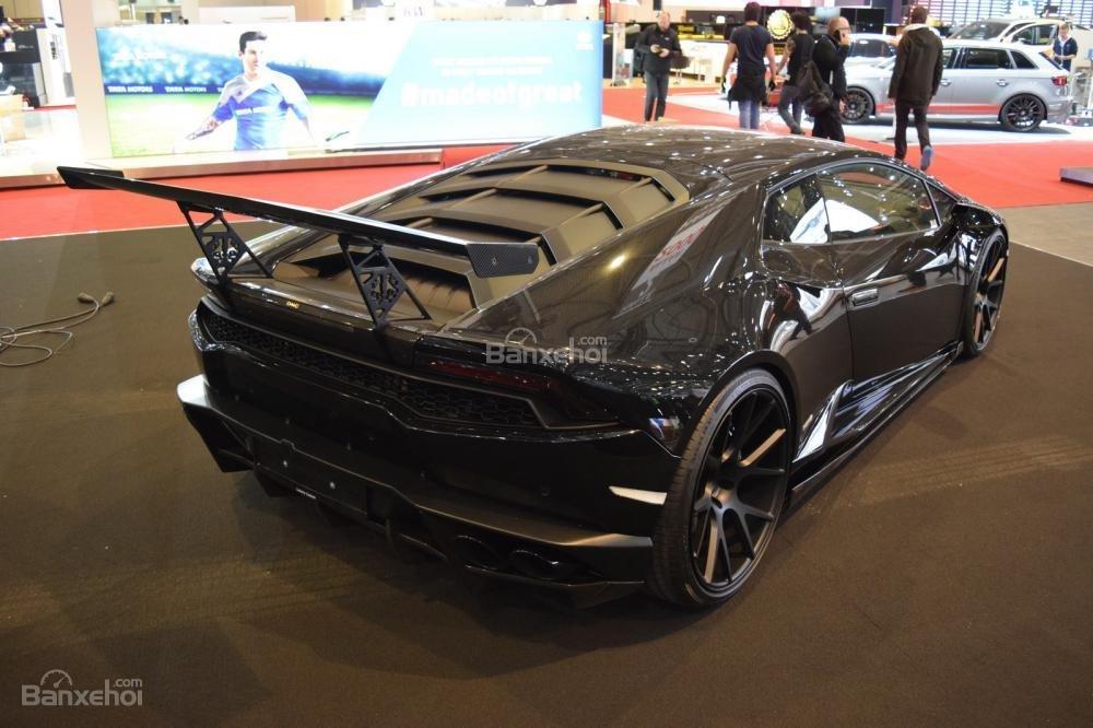 Lamborghini Huracan độ với phong cách nero chói lòa Geneva 4