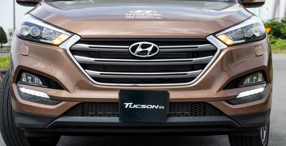 Lưới tản nhiệt của Hyundai Tucson 2016.