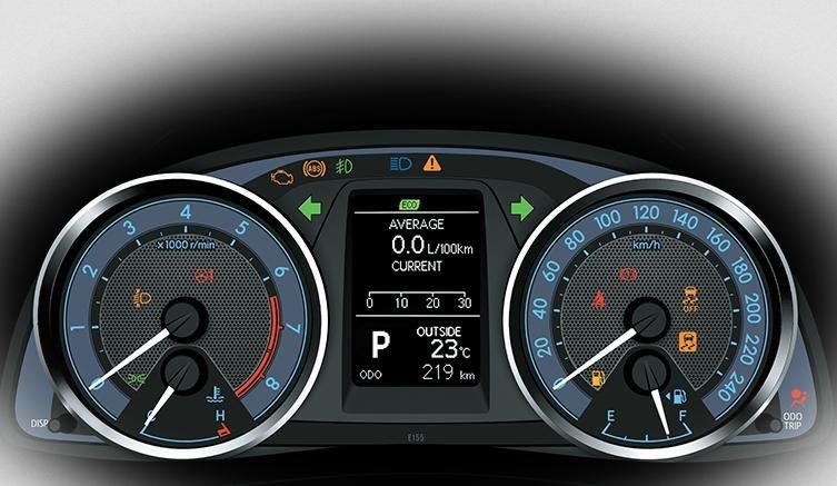 Đánh giá xe Toyota Corolla Altis 2016 có bảng đồng hồ điều khiển bắt mắt.