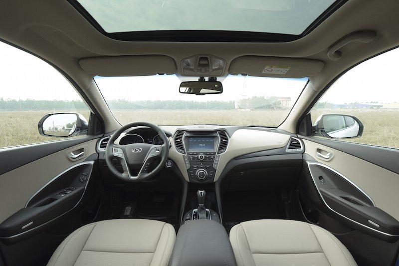 Nội thất Hyundai SantaFe 2016