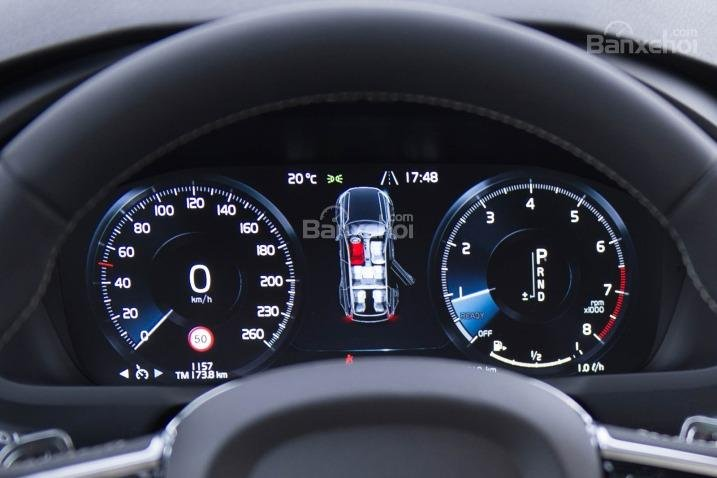 Đánh giá xe Volvo XC90 2016: Cụm đồng hồ trên xe.