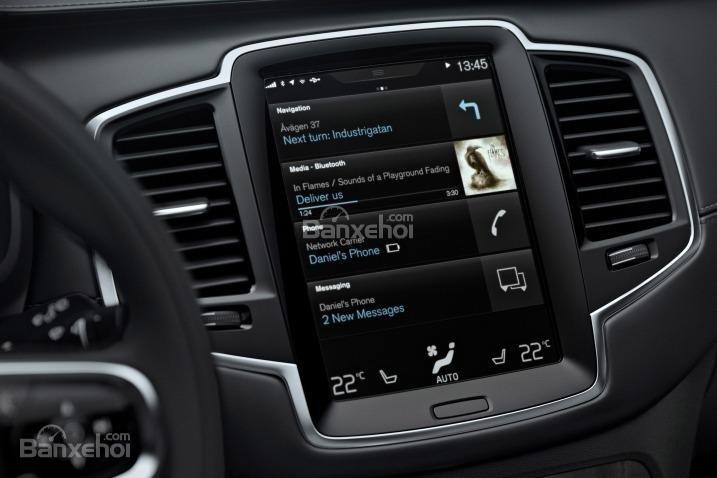 Đánh giá xe Volvo XC90 2016: Các ứng dụng hiện đại.