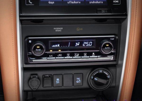 Hệ thống điều hòa tự động Toyota Fortuner 2016-2017