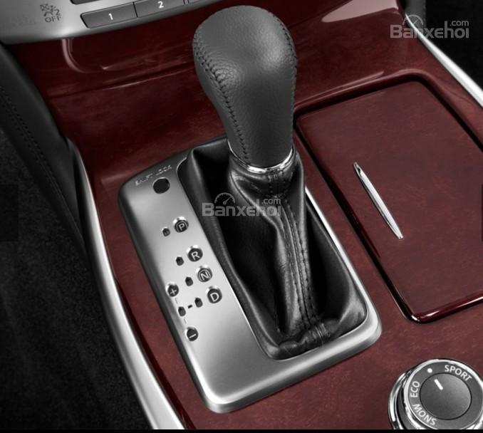 Đánh giá xe Infiniti Q70 2016: Cần gạt số.