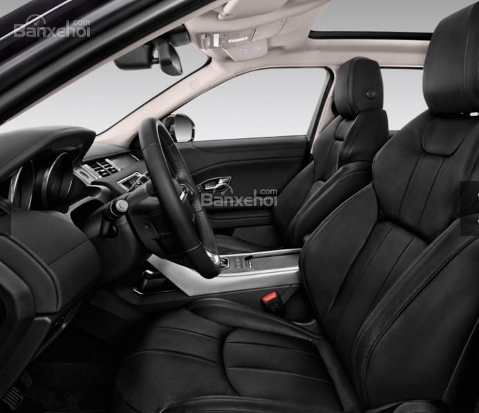 Đánh giá xe Land Rover Range Rover Evoque 2016: Hàng ghế phía trước xe.