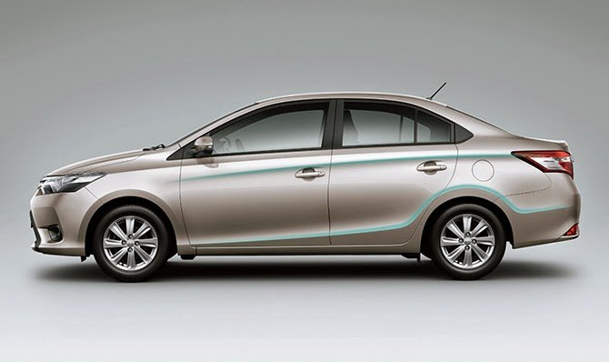 Đánh giá xe Toyota Vios 2016 có thân xe thiết kế đơn giản.