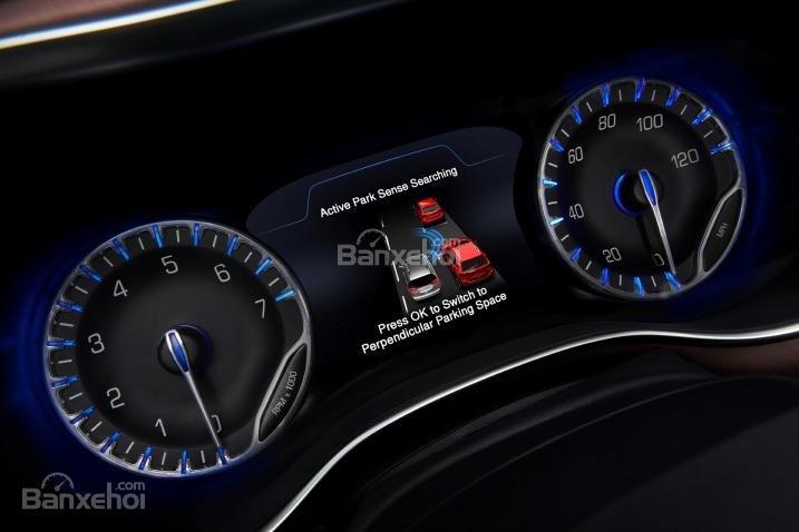 Đánh giá xe Chrysler Pacifica 2017: Cụm đồng hồ của xe.