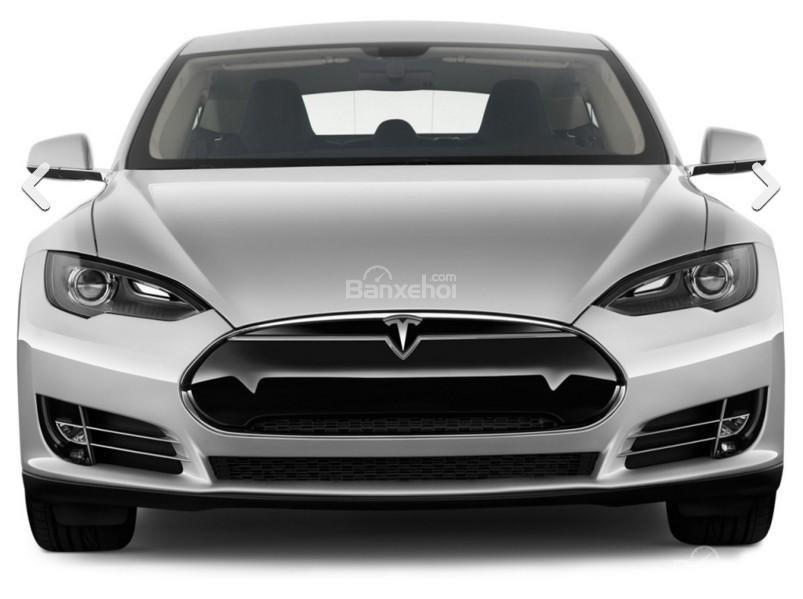 Đánh giá xe Tesla Model S 2016: Đầu xe có thiết kế sang trọng.