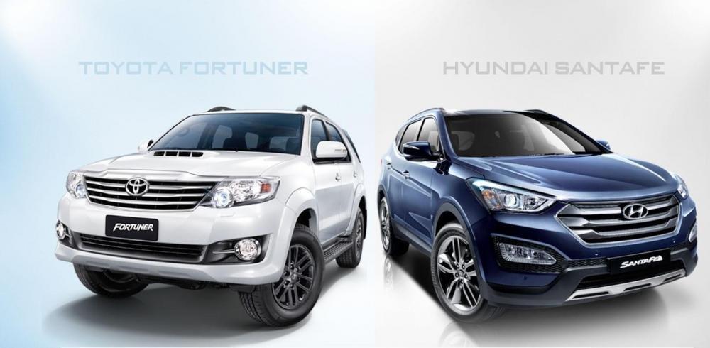 So sánh xe Hyundai SantaFe và Toyota Fortuner 3