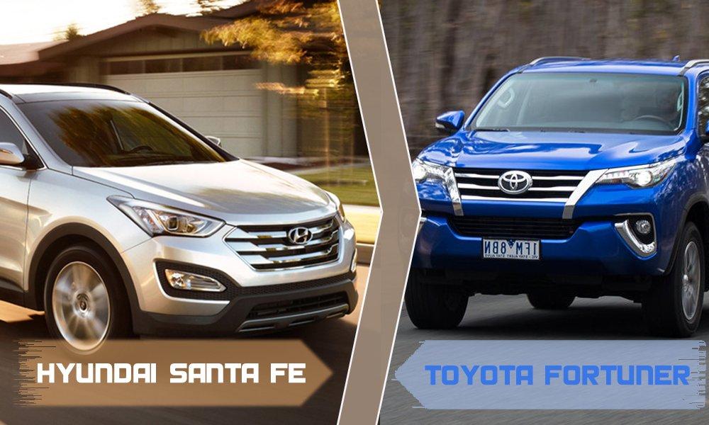 So sánh xe Hyundai SantaFe và Toyota Fortuner 1