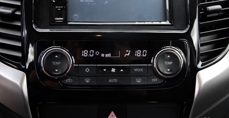 Đánh giá xe Mitsubishi Triton 2015 có điều hòa tự động 2 vùng độc lập.
