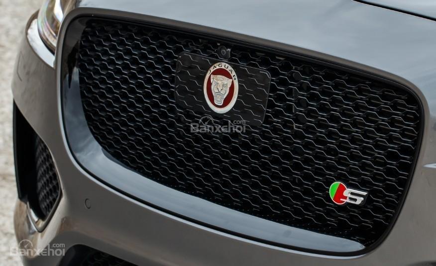 Đánh giá xe Jaguar F-PACE 2017: Thiết kế lưới tản nhiệt khá rộng.