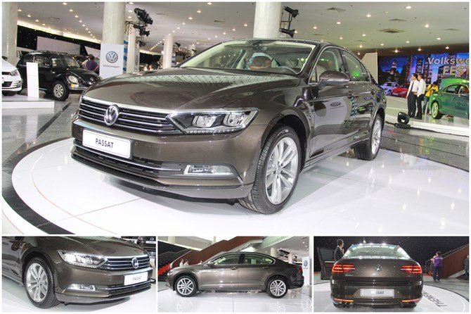 So sánh ngoại thất xe Volkswagen Passat và Renault Latitude.