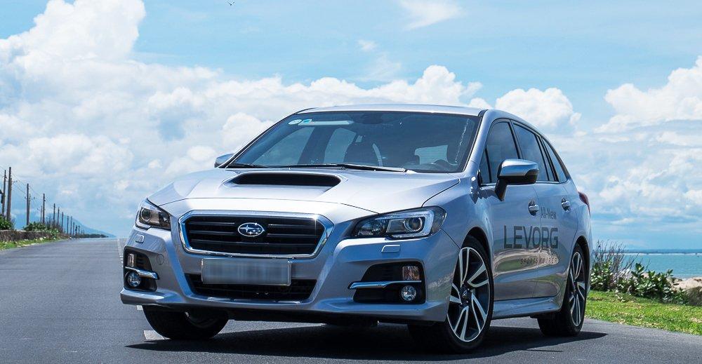 Đánh giá xe Subaru Levorg có vẻ ngoài hiện đại.