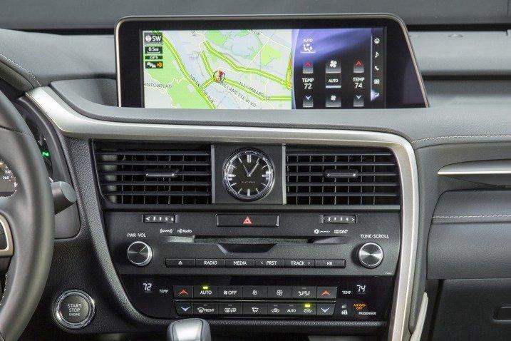 Đánh giá xe Lexus RX350 2016: Tất cả các chi tiết trên bảng Tablo đều được tinh chỉnh.