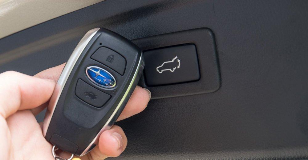 Đánh giá xe Subaru Outback 2016 có chìa khóa thông minh.
