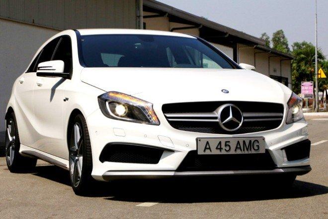 Đánh giá xe Mercedes-Benz A-Class 2014 có đầu xe thể thao và cá tính.
