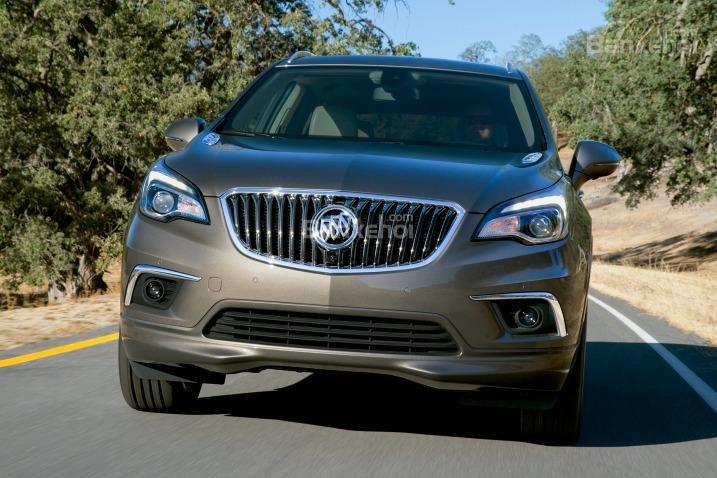Đánh giá xe Buick Envision 2016: Đầu xe có thiết kế mạnh mẽ.