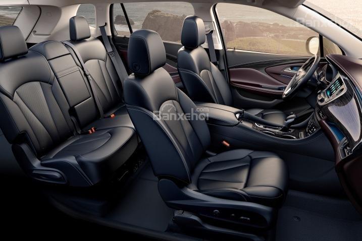 Đánh giá xe Buick Envision 2016: Không gian ghế ngồi ở mức trung bình.
