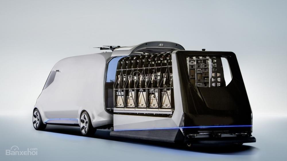 Vén màn Mercedes Vision Van concept với công nghệ chở hàng tiên tiến 3