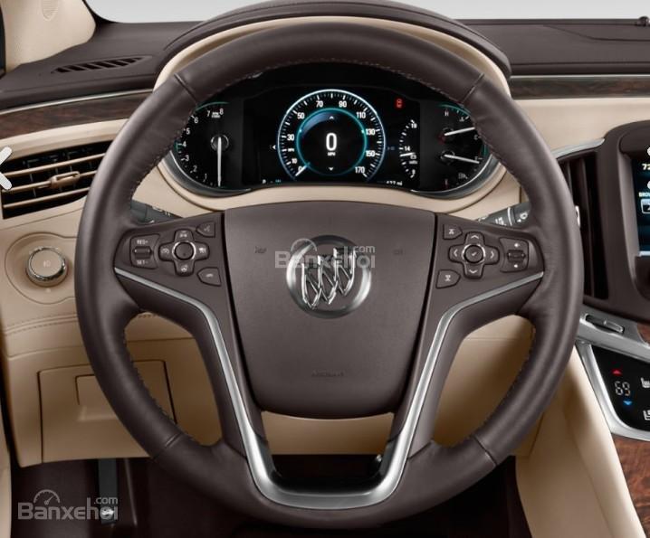 Đánh giá xe Buick LaCrosse 2017: Vô lăng bọc da.