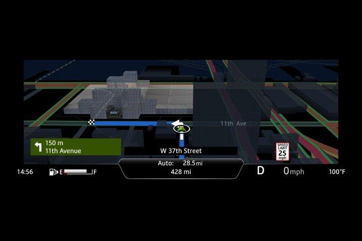 Đánh giá xe Jaguar XF 2017 có tính năng dẫn đường tiện ích tích hợp trên màn hình.