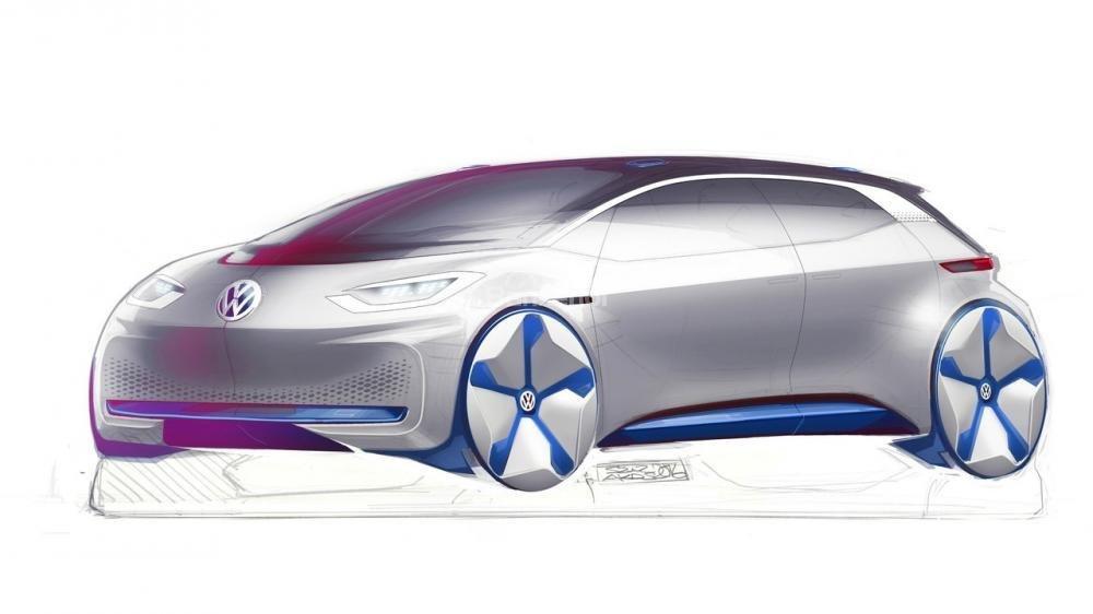 Volkswagen nhá hàng xe điện concept trước ngày trình làng tại Paris.