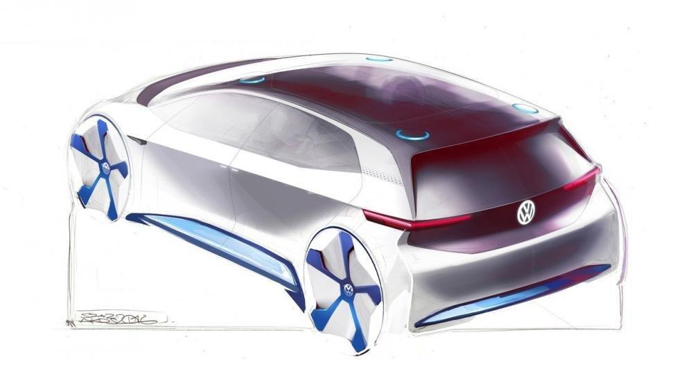 Volkswagen nhá hàng xe điện concept trước ngày trình làng tại Paris 1