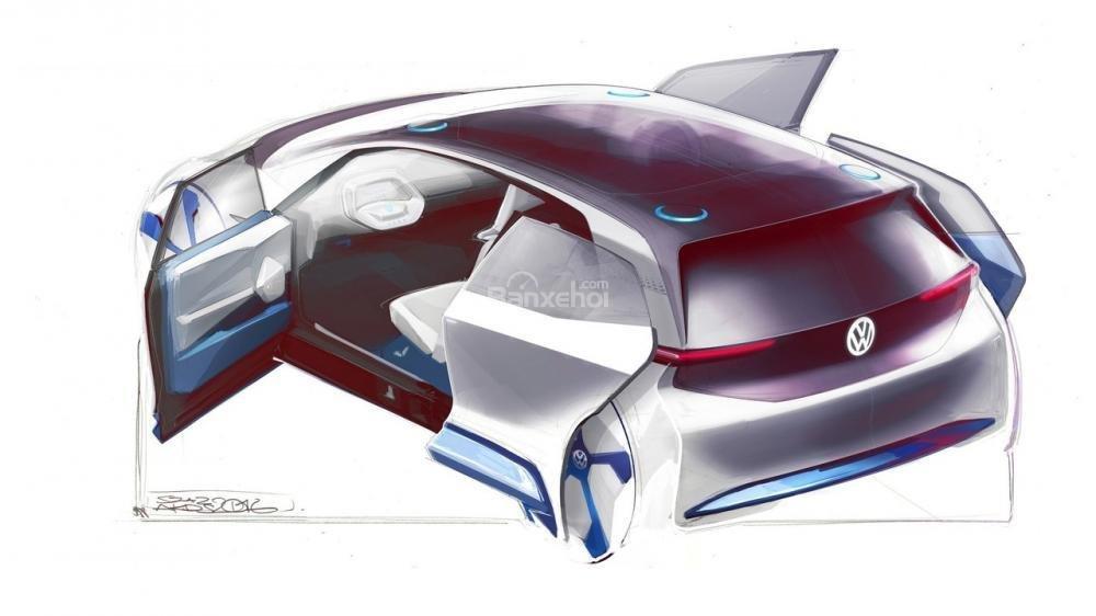 Volkswagen nhá hàng xe điện concept trước ngày trình làng tại Paris 2