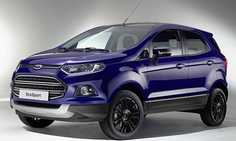 Đánh giá xe Ford Ecosport 2016 có thân gọn gàng, hơi dốc nhẹ về phía trước.