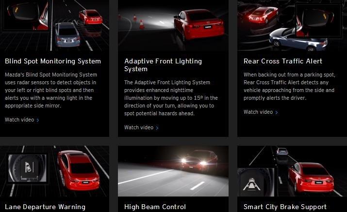 Mazda CX-9 2016 được trang bị hệ thống I-Activsense tích hợp khá nhiều tính năng, tiện ích.