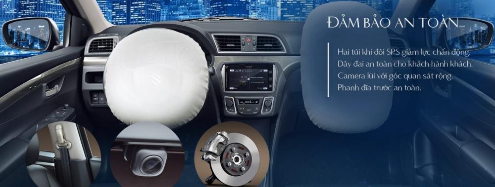Đánh giá xe Suzuki Ciaz 2017 trang bị các tính năng an toàn ở mức vừa phải.