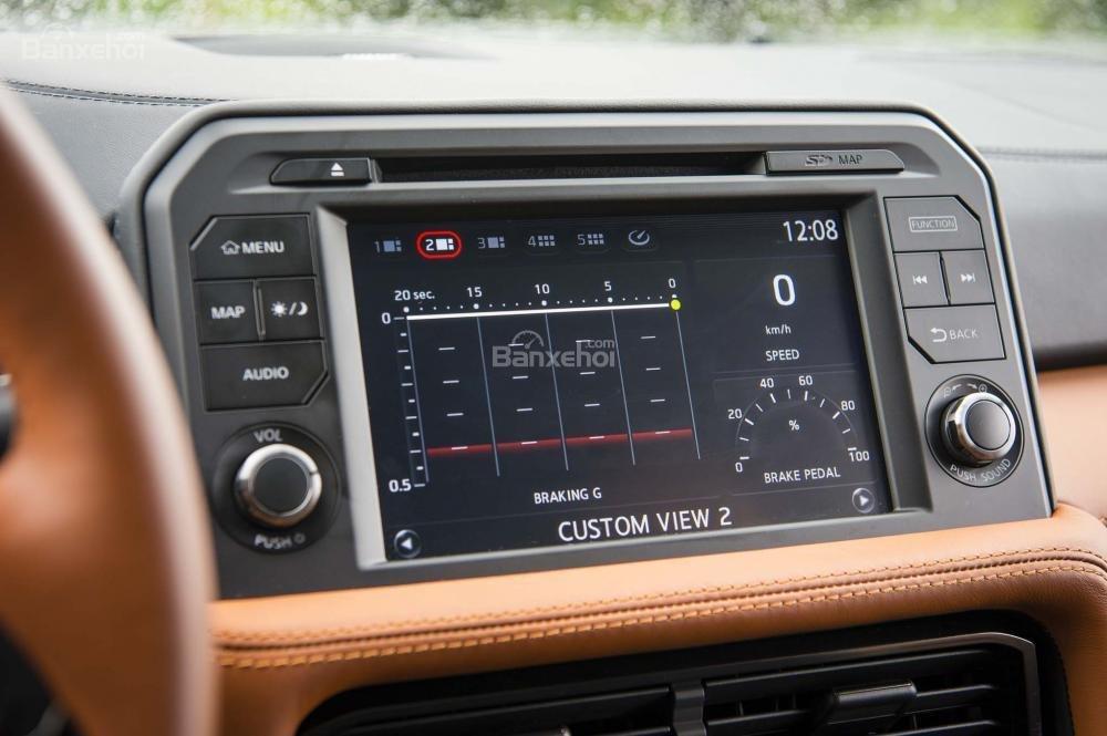 Đánh giá xe Nissan GT-R 2017: Xe được tích hợp nhiều tính năng giải trí.