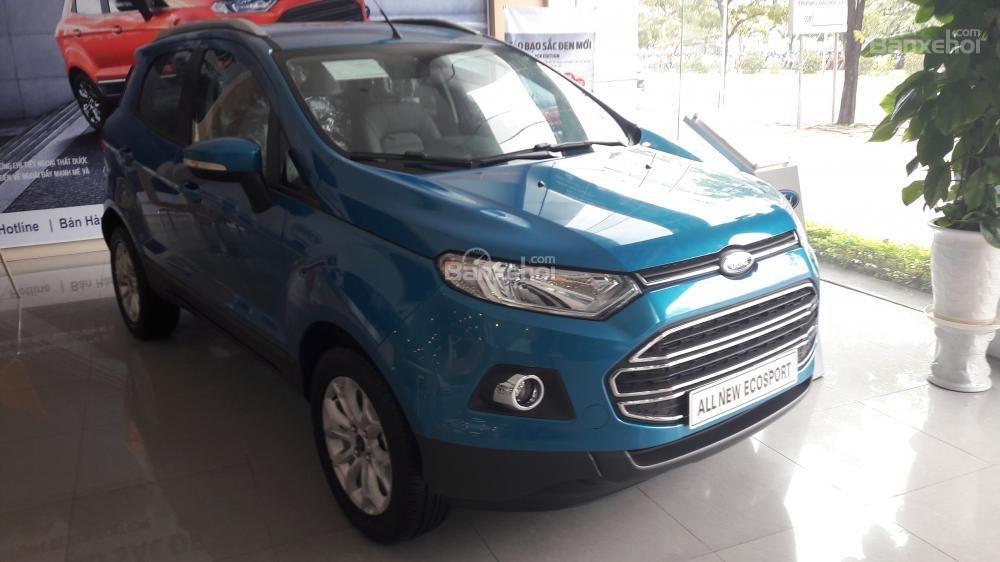 Cần bán xe Ford EcoSport Titanium đời 2017, màu xanh-1