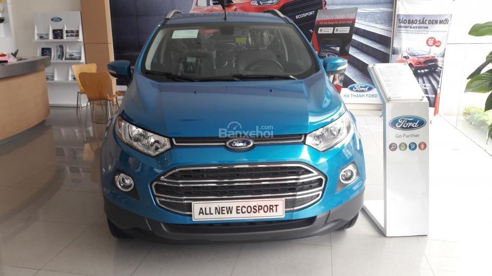 Cần bán xe Ford EcoSport Titanium đời 2017, màu xanh-0