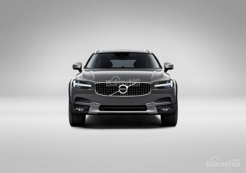 Đánh giá xe Volvo V90 Cross Country 2018: Đầu xe có thiết kế sắc nét.