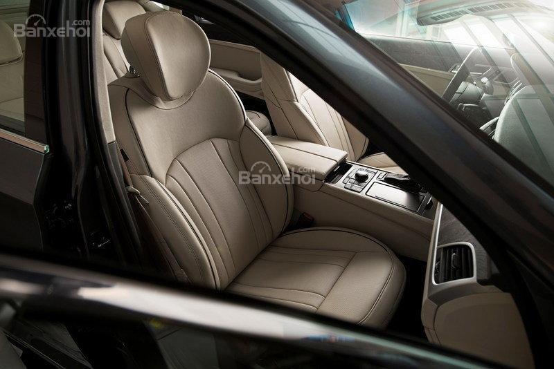 Đánh giá xe Genesis G80 2017: Hệ thống ghế ngồi bọc da cao cấp..