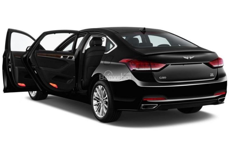 Đánh giá xe Genesis G80 2017: Thiết kế cửa xe chắc chắn a1
