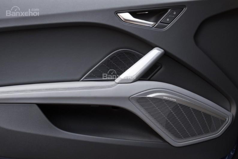 Đánh giá xe Audi TT 2017: Nút bấm điều khiển trên cửa xe.