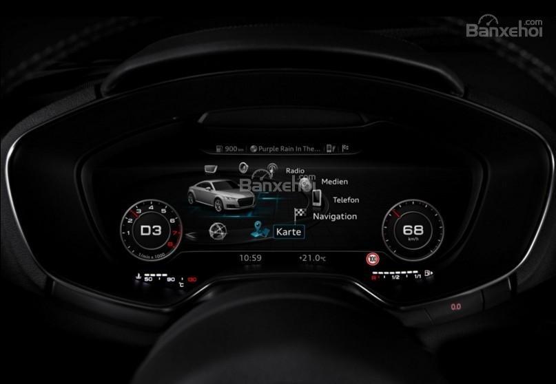 Đánh giá xe Audi TT 2017: Tất cả các thông tin sẽ hiển thị trên bảng đồng hồ lái a2