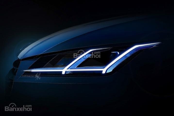 Đánh giá xe Audi TT 2017: Đèn pha xenon-plus sắc lẹm tích hợp đèn chạy ban ngày LED.