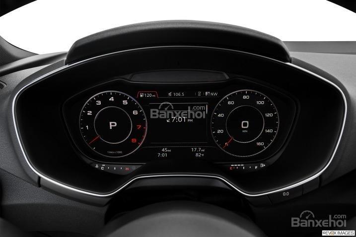 Đánh giá xe Audi TT 2017: Tất cả các thông tin sẽ hiển thị trên bảng đồng hồ lái a1