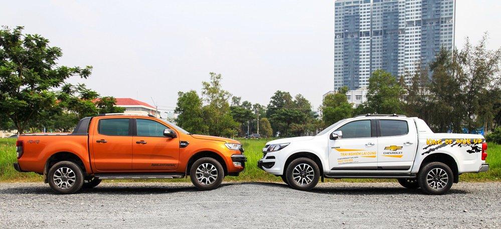 So sánh nội thất Ford Ranger Wildtrak 2016 và Chevrolet Colorado High Country 2017 5