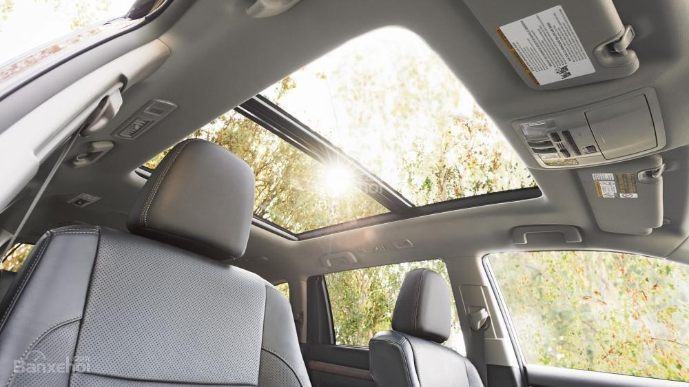 Đánh giá xe Toyota Highlander 2017: Cửa sổ trời toàn cảnh.