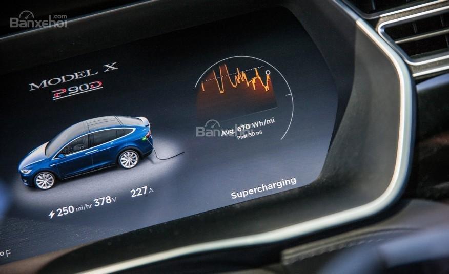 Đánh giá Tesla Model X 2016 về bảng đồng hồ lái a2