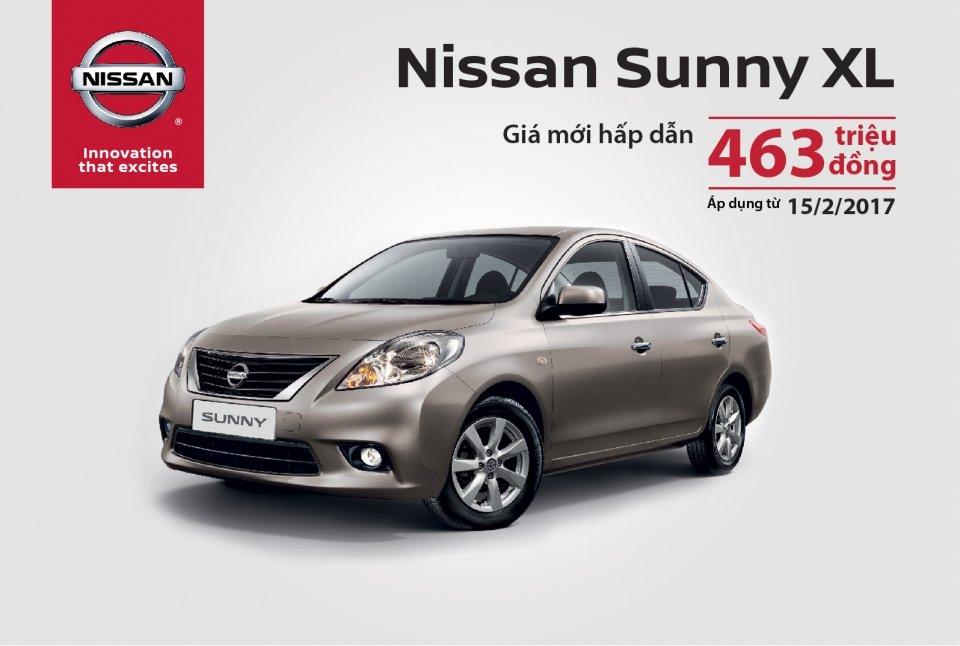 Nissan Sunny bất ngờ giảm giá 35 triệu từ ngày 15/2/2017.