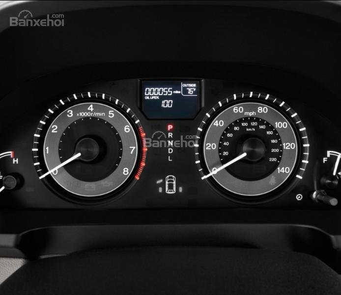 Đánh giá xe Honda Odyssey 2018: Cụm đồng hồ trên xe.