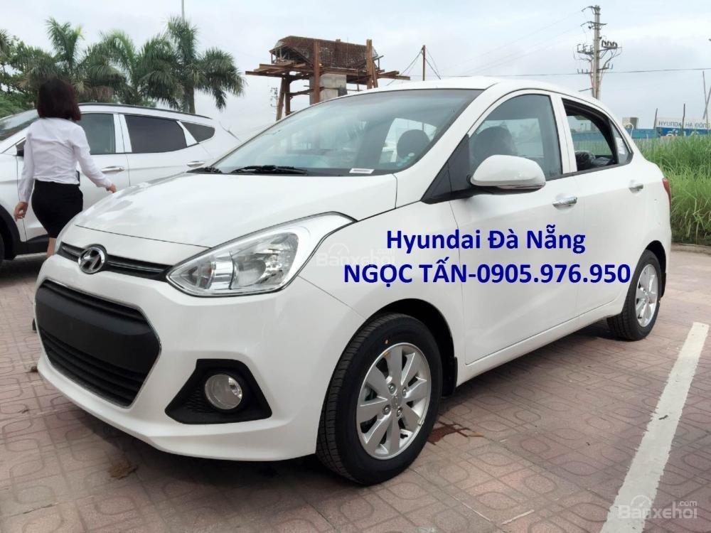 Hyundai Đà Nẵng **0905.976.950** bán xe Hyundai Grand i10 Sedan số sàn đời 2019, màu trắng, nhập khẩu CKD-1