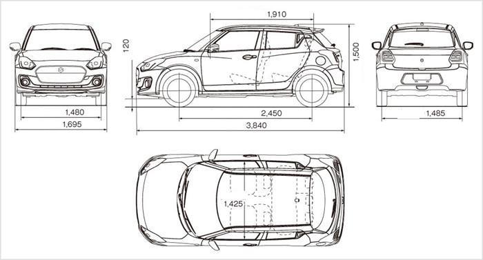 Đánh giá xe Suzuki Swift 2017: Kích thước tổng thể của xe vẫn không thay đổi 1